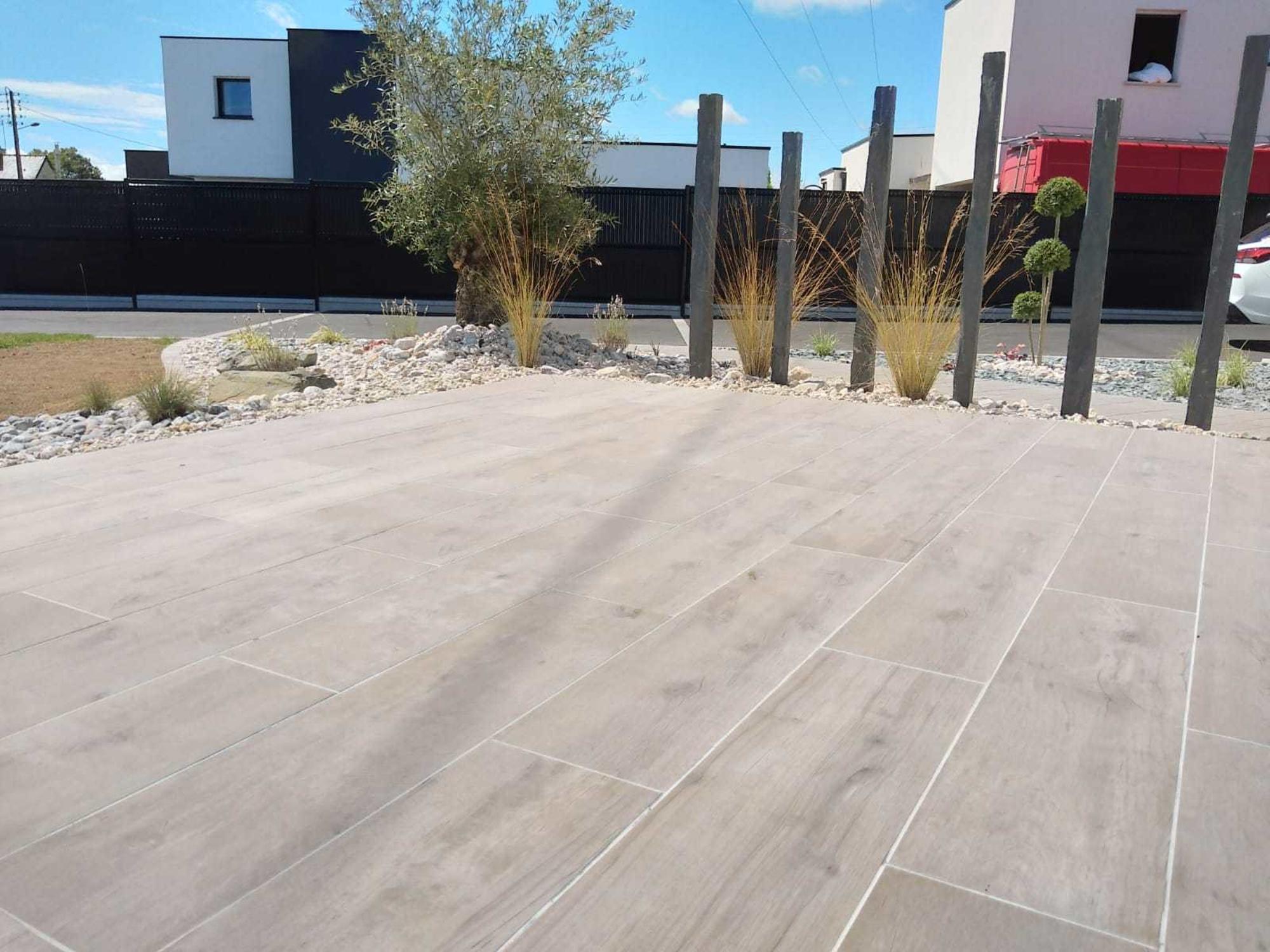 Terrasse gré Céram imitation bois