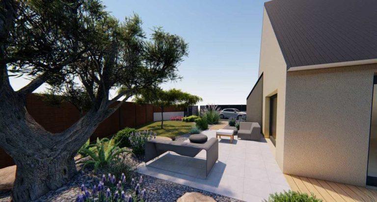 Terrasses carrelage et composite - Abords végétalisés